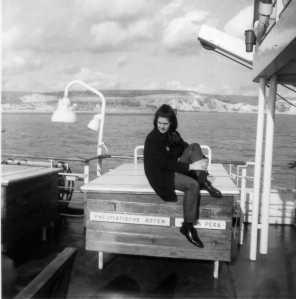 Dev 1967 USSR Ann Garraway on Ferry 007